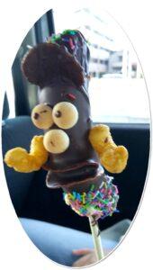 川崎大師で出会ったチョコバナナ