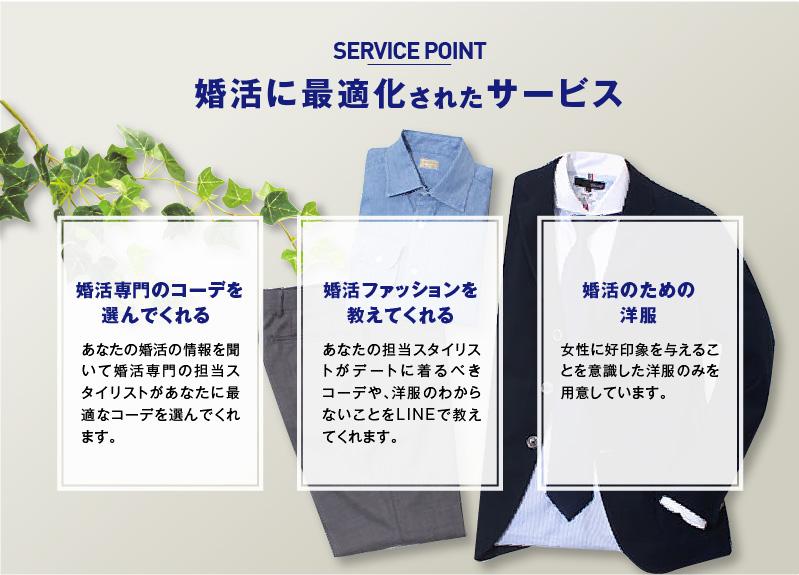 男性用婚活ファッションサービス