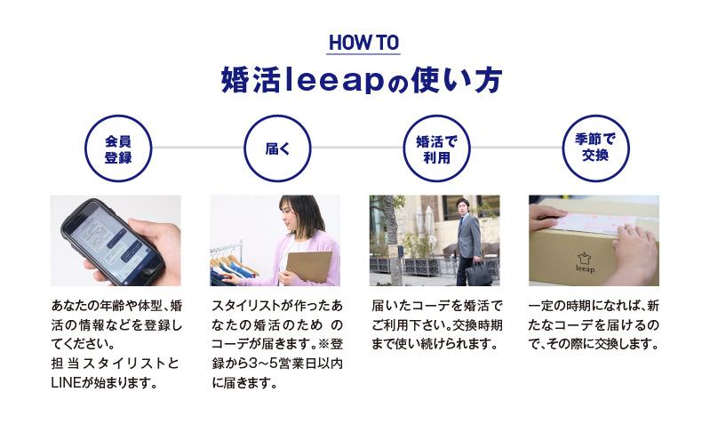 婚活leeapの使い方