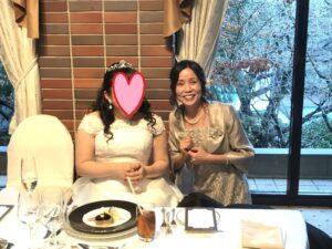 新婦と結婚披露宴