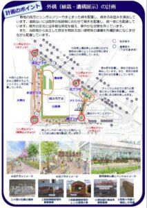 横浜市庁舎建設タイムズ新庁舎外構計画図
