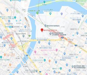 横浜新庁舎地図