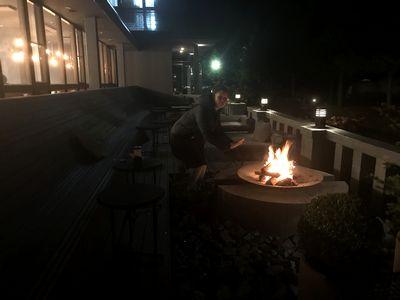 たき火 グランピング