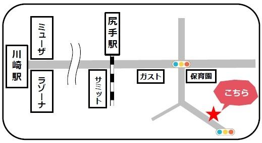 シーネット結婚相談所地図:川崎駅、尻手駅からの地図